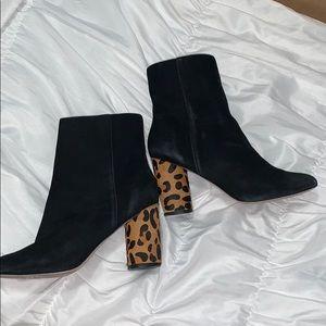Cheetah heel booties